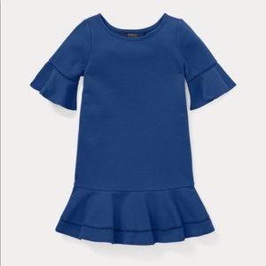 NWT Ralph Lauren Ruffled Ponte Dress